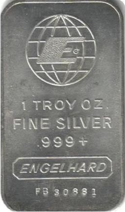 Engelhard Silver Bullion Bars