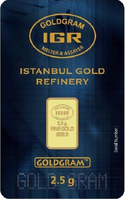 Istanbul Gold Refinery Bars